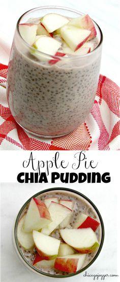 Apple Pie Chia Pudding - a delicious, healthy breakfast or snack recipe | chicagojogger.com