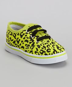 Take a look at the LILLY of NEW YORK Yellow Neon Leopard Sneaker on #zulily today!