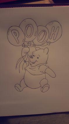 PoohBear – # PoohBear … – Graffiti World Cute Disney Drawings, Cool Art Drawings, Pencil Art Drawings, Art Drawings Sketches, Animal Drawings, Easy Drawings, Drawing Disney, Character Drawing, Disney Art
