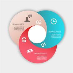 円形のインフォグラフィックス テンプレート Infographics business diagram circle template イラスト素材