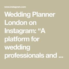 """Wedding Planner London on Instagram: """"A platform for wedding professionals and couples, celebrating weddings and sharing our top wedding planning tips and experience. For…"""" Wedding Planning Tips, Wedding Planner, Mirror Mirror, Luxury Wedding, Platform, Weddings, How To Plan, Couples, Wedding"""