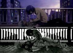 Why Did You Have To Change? Anime/Manga - Kaneki and Touka - Tokyo Ghoul Tokyo Ghoul Manga, Manga Vs Anime, Anime Art, Haise, Touka Kaneki, Danshi Koukousei No Nichijou, Terror In Resonance, Barakamon, Supernatural