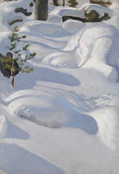 Akseli Gallen-Kallela - Sunshine on Snow, oil on canvas, Finnish National Gallery, Helsinki Abstract Landscape, Landscape Paintings, Scandinavian Paintings, August Sander, Albert Bierstadt, Nordic Art, Winter Painting, Winter Trees, Art Graphique