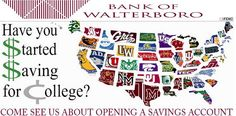 If you're ready to get serious about saving for college, schedule some time to come chat with us. It's never too soon or too late to start. Visit our website or call (843) 549-2265. #SmartMoney #BankofWalterboro
