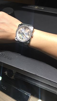 Bell & Ross. BRS monochrome camouflage. With diamonds. RM20k++