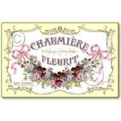 Item 5311 Sign Vintage Style French Perfume Label Shabby Cottage Plaque
