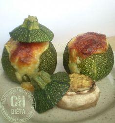 Töltött gömbcukkini Avocado, Fruit, Vegetables, Recipes, Food, Veggies, Rezepte, Essen, Vegetable Recipes
