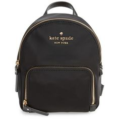 Women's Kate Spade New York Watson Lane - Small Hartley Nylon Backpack (€130) ❤ liked on Polyvore featuring bags, backpacks, black, nylon backpack, daypack bag, backpack bags, pocket bag and kate spade