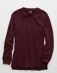 Aerie Raglan Tunic Sweatshirt , Deep Plum | Aerie for American Eagle