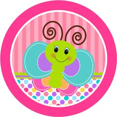 Divertida Mariposa: Etiquetas para Candy Buffet para Imprimir Gratis.