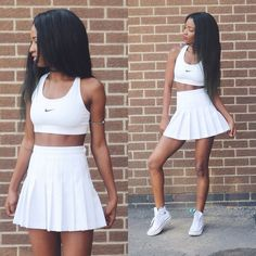 American Apparel Skirt, Urban Outfitters Nike Logo Top, Urban Outfitters All Stars