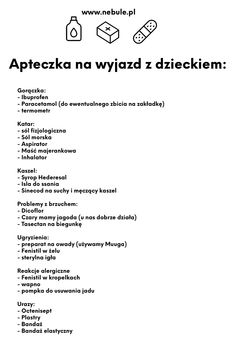 Apteczka na wyjazd z dzieckiem (stworzona z pediatrą) - lista do druku Fun Games For Kids, Diy For Kids, Cool Kids, Future Mom, Baby Boom, Kids Zone, Holidays With Kids, Traveling With Baby, Baby Time