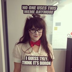 Cute Internet meme costume.   just to get the ideas flowing! :)