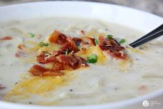 Crock Pot Potato soup is good, but it's even better when it's a Loaded Baked Potato Soup! Am I right? This slow cooker recipe is GOOD!