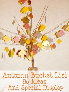 Childhood Beckons: Autumn Bucket List- 80 Ideas And A Special Display