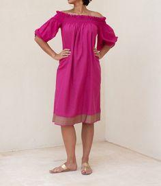 Hot Pink Flow Dress