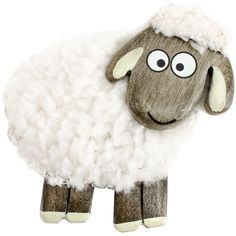 Fluffy Sheep Magnet White Standing