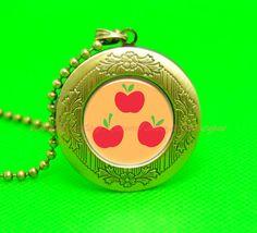 My little pony apple jack cutie mark vintage pendant by peegu, $12.50