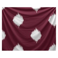 E By Design Holiday Cheer Hol-I-kat Wall Tapestry Cranberry / Burgundy / White - TYHI294RE4-80