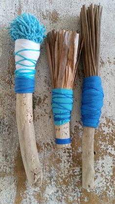 Handmade brushes for mark making by Pam Thorne. www.pamthorne.com.au