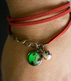 Total Spring! / Wrap Marsala suede bracelet ChicaMangaBCN