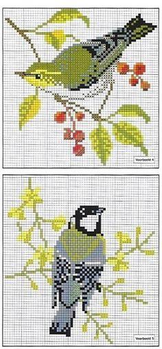 Etamin Şablonları Kuş Desenleri 21