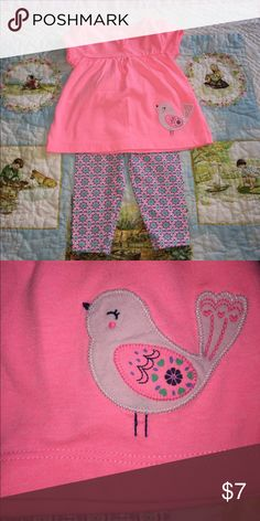 Lovely bird Worn once! Perfect condition! Carter's Matching Sets
