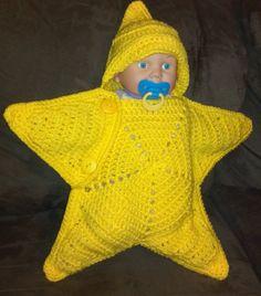 Estrella capullo recién nacido sueño saco saco por ExpertCraftss