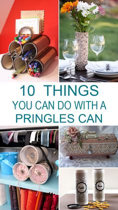 "DIY - Art - Craft - Projects diytotry: "" 10 Insanely Cool Things You Can Do With A Pringles Can → "" More<br> Pringles Dose, Pringles Can, Recycled Crafts Kids, Diy Crafts For Kids, Tin Can Crafts, Arts And Crafts, Nifty Crafts, Creative Crafts, Idee Diy"
