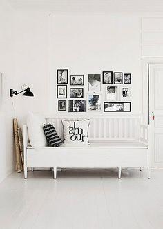 ☆ white decor grey interior daybed lighting lamp prints in frames white flooring