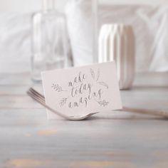 make today amazing  #hochzeit #hochzeitseinladung #hochzeitseinladungen #hochzeitspapeterie #papeterie #savethedates #wedding #quote #quotes #weddingstationery #weddinginvite