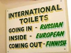 international toilets.