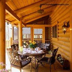 Log Home - for more information on building a log home or timber frame home contact www.homedesignelements.com