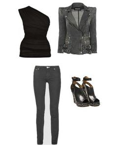 My idea for a 'CHIC ROCK CHICK' look!