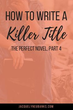 to Write the Perfect Novel, Pt. The Title How to Write the Perfect Novel, Pt. The Title - Jacquelyn Eubanks Creative Writing Tips, Book Writing Tips, Editing Writing, Writing Lessons, Fiction Writing, Writing Quotes, Writing Resources, Writing Skills, Writing Prompts