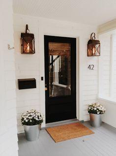 black front door | curb appeal