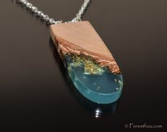I made this wooden necklace for my dear wife.