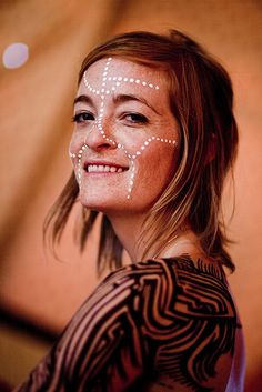 contemporary tribal face & body paint