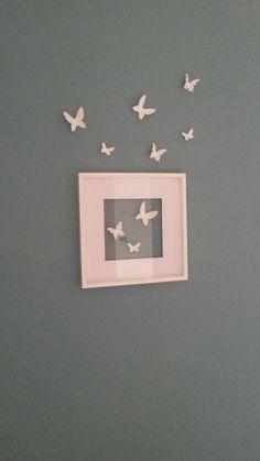 Butterflies on fly