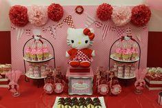 Hello Kitty Pink & Red / Birthday / Dessert Table: My Hello Kitty dessert table