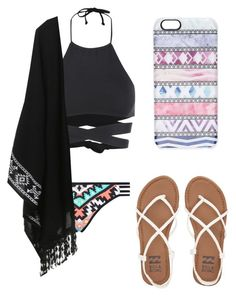 """Day by the Pool"" by dellevy on Polyvore featuring L*Space, Seafolly, Casetify and Billabong"