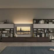 living room living room ideas LIBRARY 30 / FREE-STANDING Vitalyty Luce Wooden I-shaped