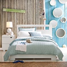 Beach Theme Bedroom....love the textures and colors for a baby room