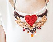 Statement necklace jewelry women boho jewelry by RasaVilJewelry