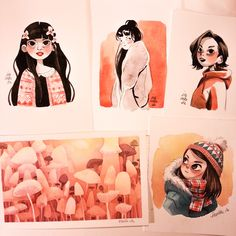 Uploaded some original watercolor drawings/paintings to my etsy store https://www.etsy.com/shop/Iraville