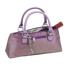 3020-PG - Fully Insulated Wine Clutch Bag Purple