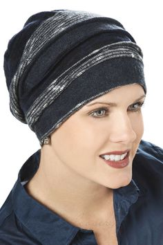 Slouchy Sweater Knit Snood Cap for Cancer Chemotherapy Hair Loss