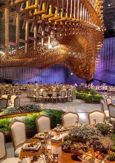 Sheikh Rashid Hall Dubai World Trade Center #ceilingart #installation #designlabevents