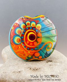 Art Glass bead by Michou P. Anderson by michoudesign on Etsy