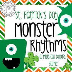 St. Patrick's Day Music Game: Monster Rhythms